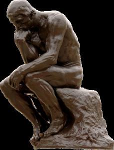 Modeltekenen De denker van Rodin