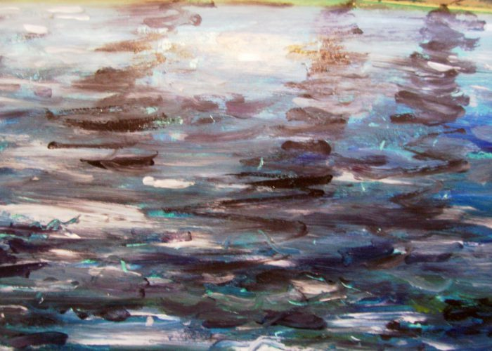 lucht en water acryl schilderen beginners
