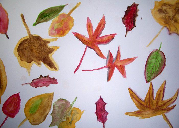 les 4 aquarel bladeren